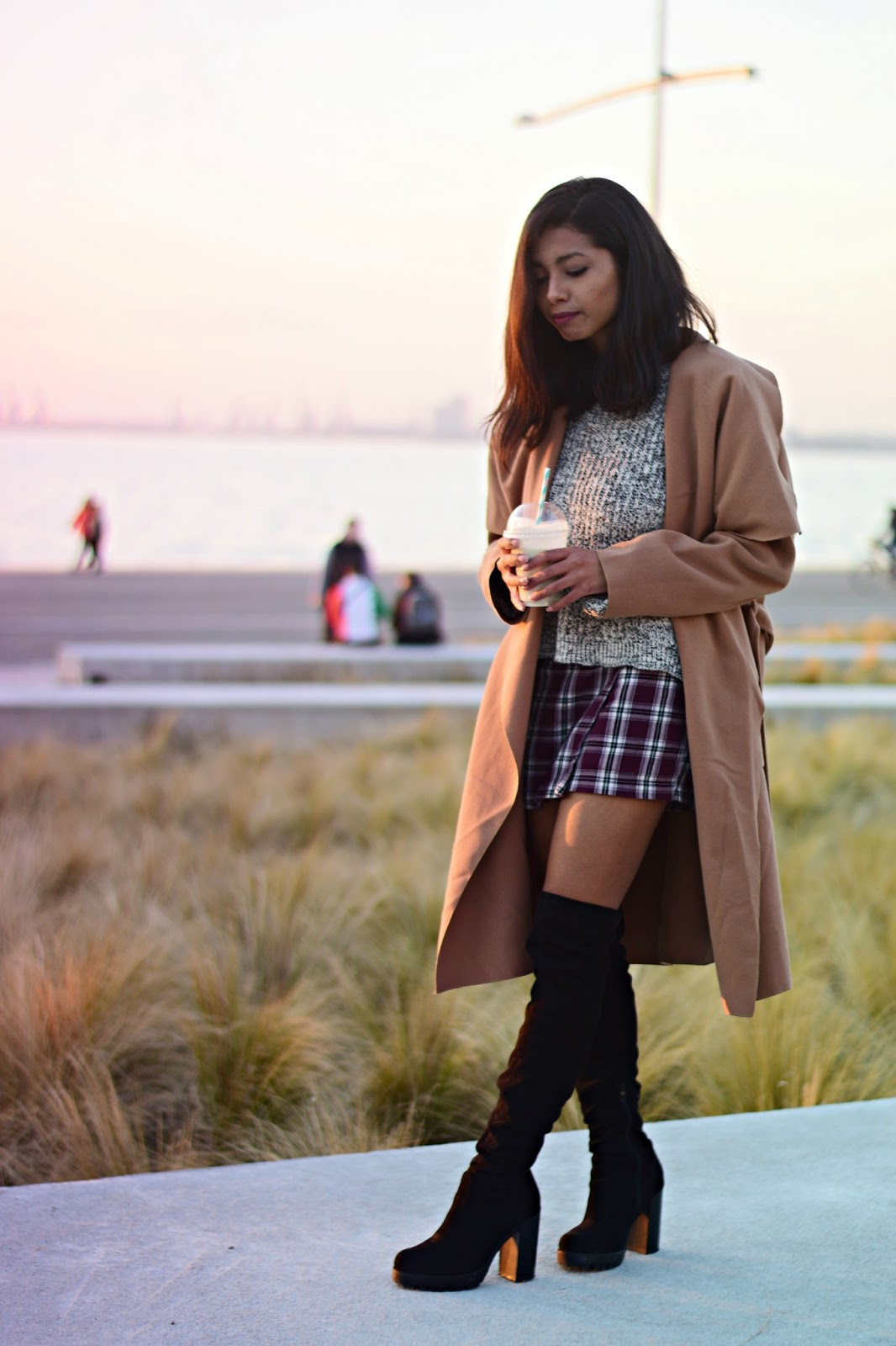 k-meets-style how to style plaid skirts in winter