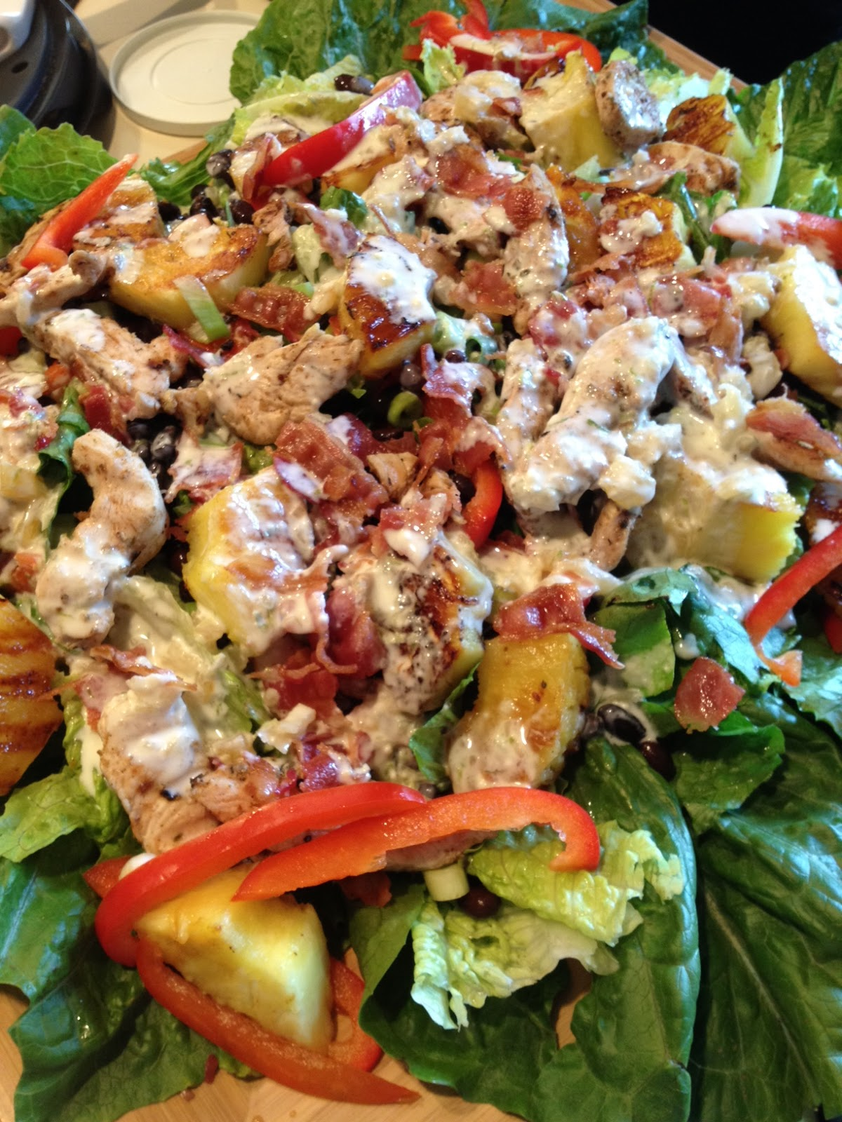 Eat Me Jerk Chicken Salad With Grilled Pineapple