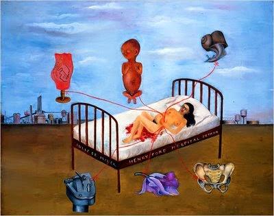 Hospital Henry Ford ou a Cama Voando - Frida Kahlo e suas pinturas ~ Pintora comunista e revolucionária