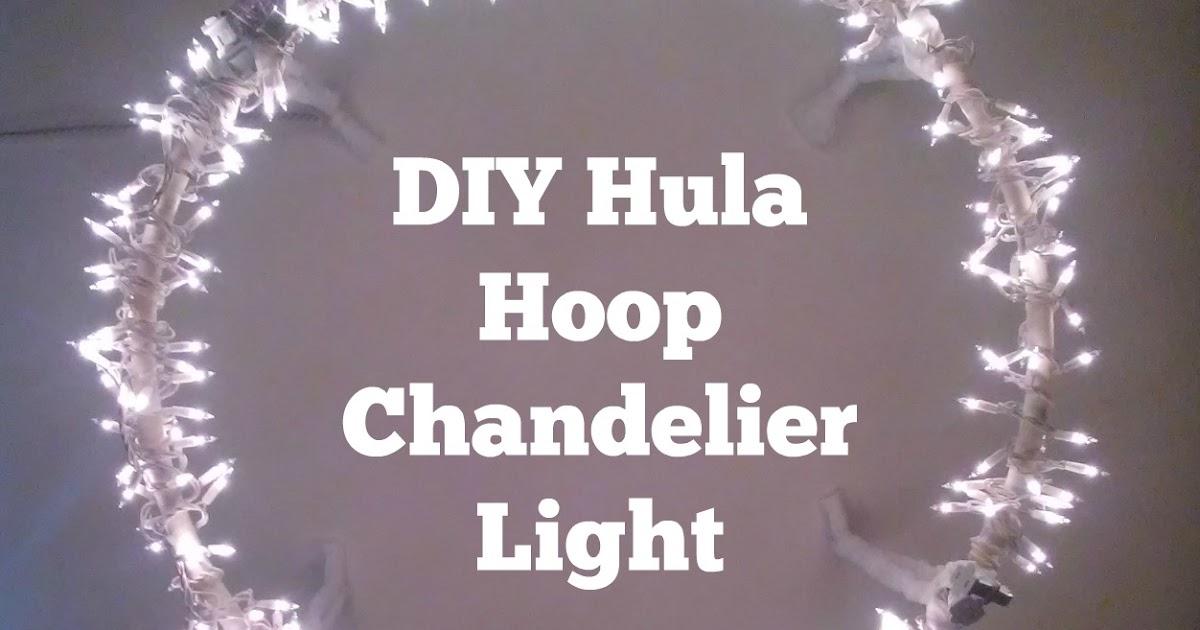 HOME DECOR DIY Hula Hoop Chandelier Light