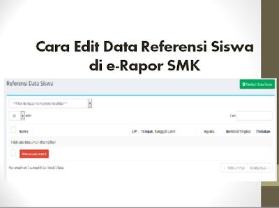 Cara Edit Data Referensi Siswa di e-Rapor SMK
