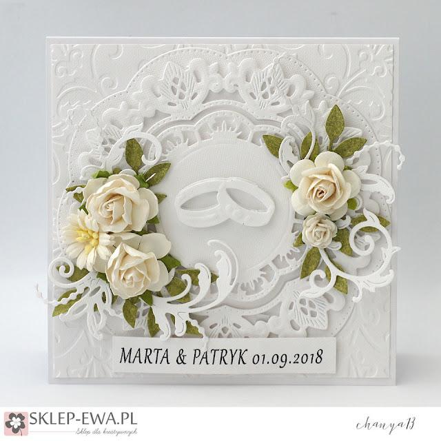 345. Biała kartka ślubna