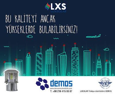 Luxsolar ledli uçak ikaz lambası sistemleri