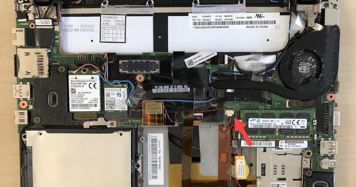 Timothy Salmon: Lenovo ThinkPad X250: Power button LED flashes three