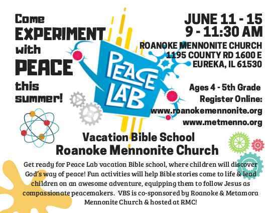Peace Lab Vacation Bible School Starts June 11, Metamora Herald