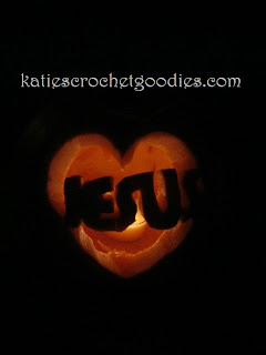 jesus carved pumpkin