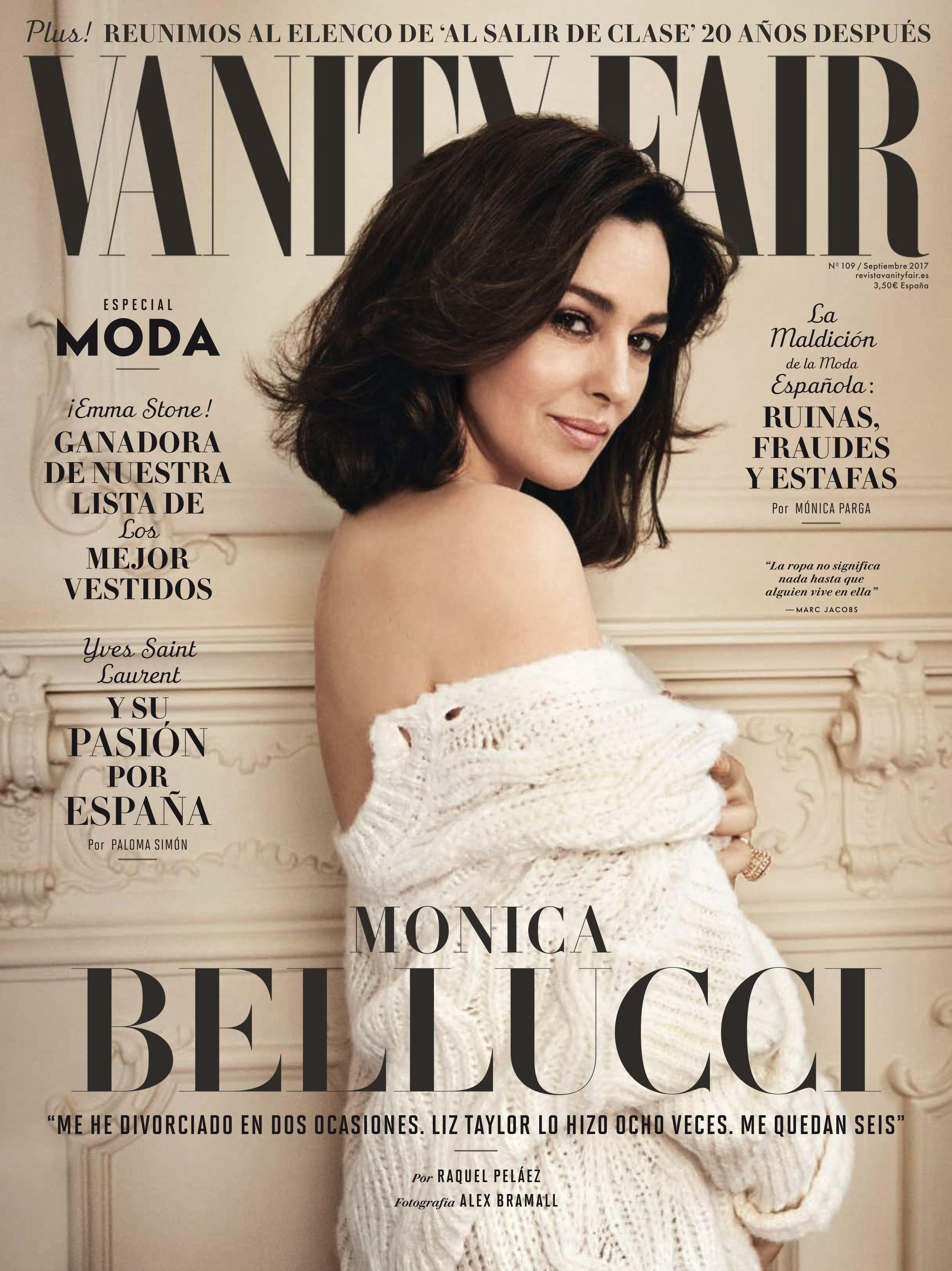 Monica Bellucci on Vanity Fair Spain: Monica Bellucci of the Spanish version Vanity Fair