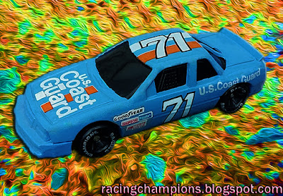 Dave Marcis #71 Coast Guard 1991 Daytona 500 Support Our Troops Cars Military Racing Champions 1/64 NASCAR diecast blog
