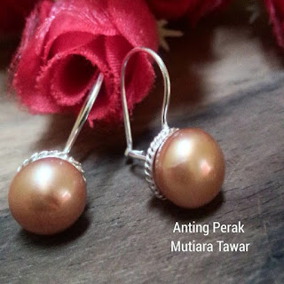 Anting Perak Mutiara Lombok