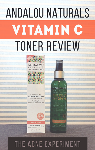 Andalou Naturals Vitamin C Toner Review - The Acne Experiment