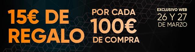 Top 10 ofertas promoción 15 € de regalo por cada 100 € de compra de Fnac.es