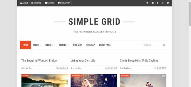 simple blogger templates