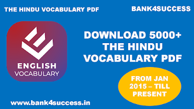 5000+ Vocabulary from The Hindu for Competitive Exam PDF