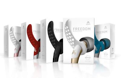 Jaybird Freedom Wireless F5 - Carbon Gold Blaze Ocean
