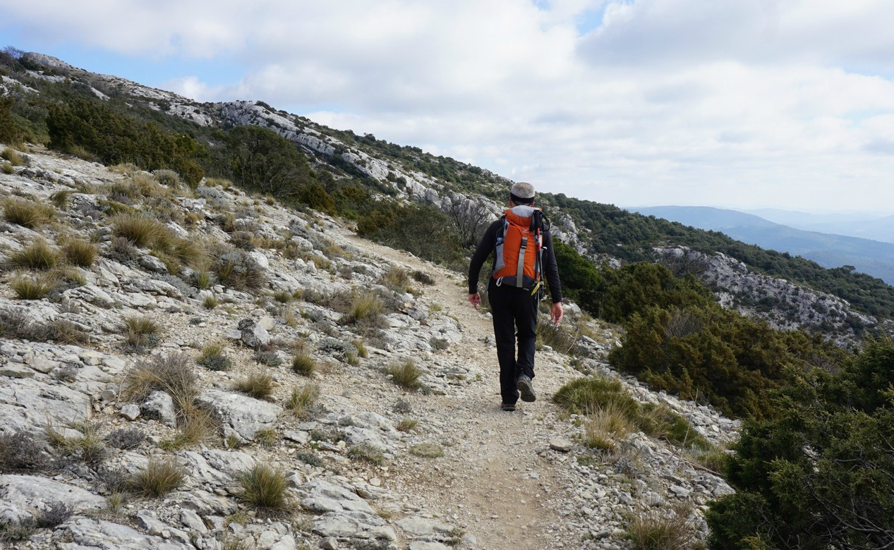 GR9 trail on the ridge of Sainte-Baume Massif