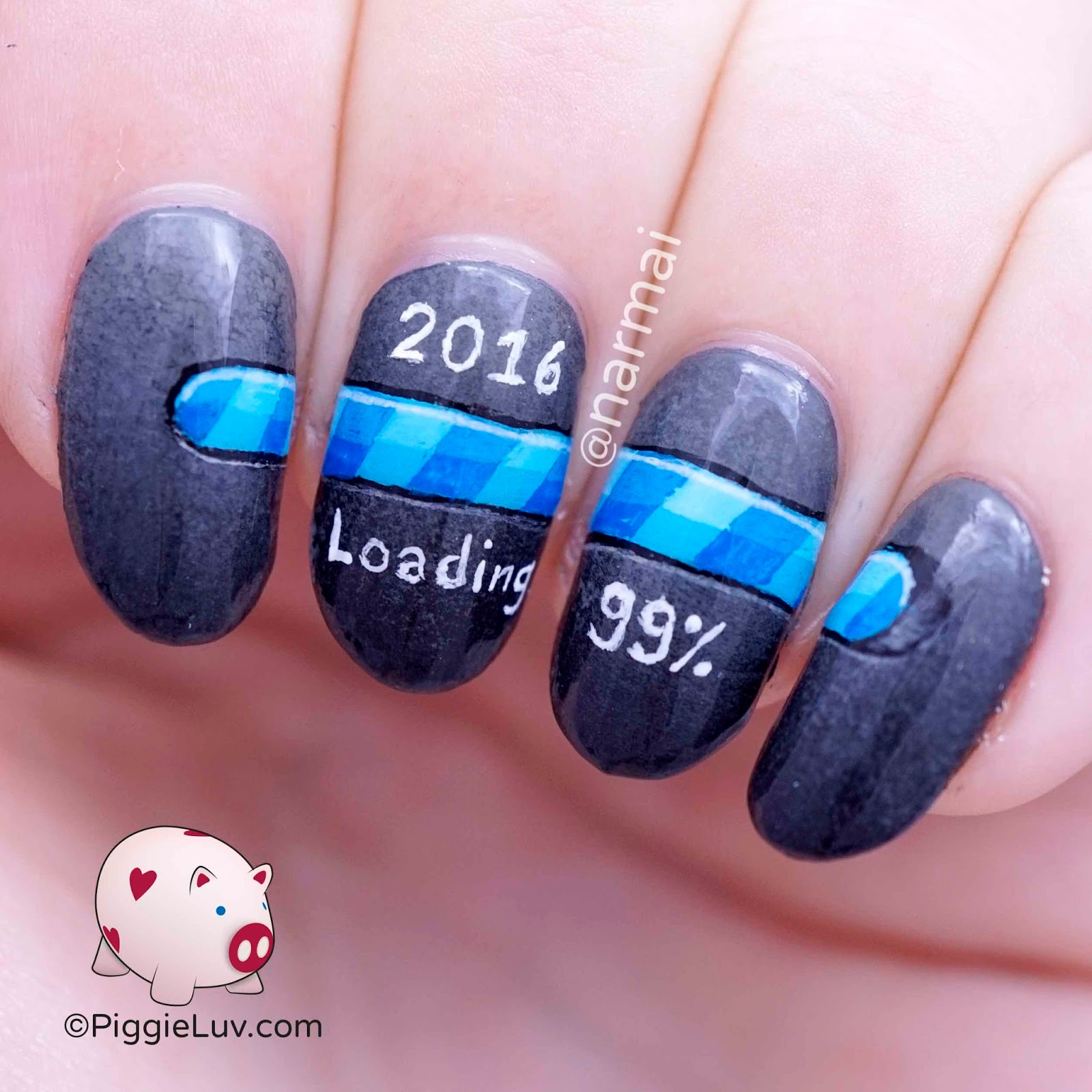 Nail Art For New Years 2016 - Nail Ftempo