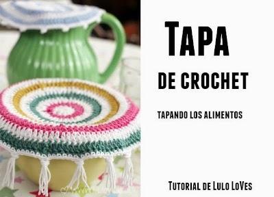Tapa alimentos de crochet
