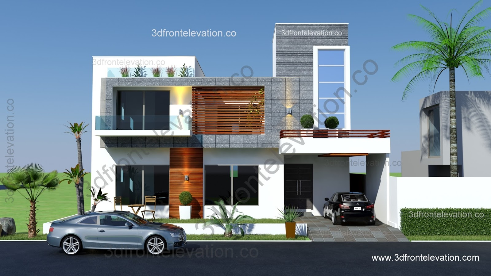 3d front 5 marlaz 8 marla 10 marla 12 marla for House front view designs pictures
