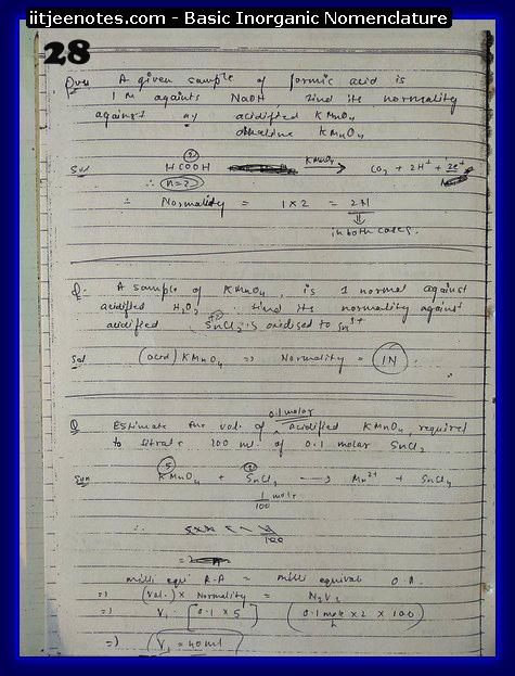 Inorganic Nomenclature chemistry