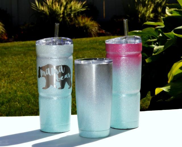 DIY Glitter Yeti Cup