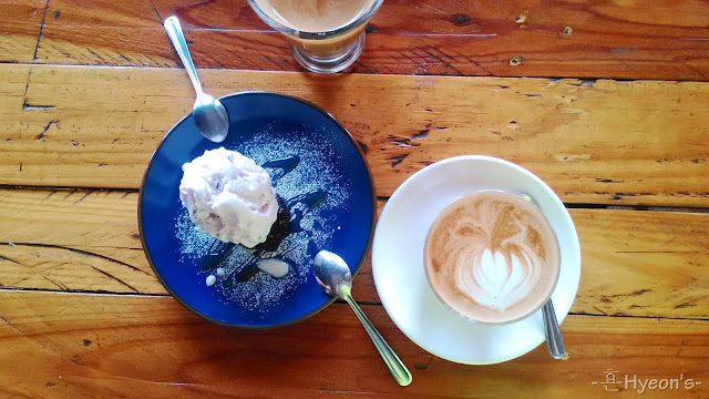 High Tea @ Breadboss Bakery Cafe; Coffee Latte & Yogurt Ice-Cream