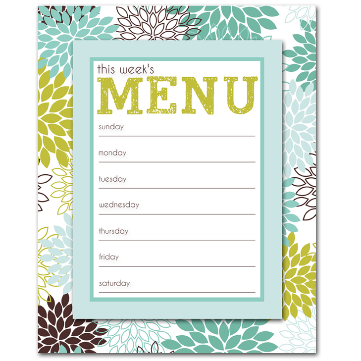 I should be mopping the floor friday 39 s freebie for Free printable menu templates for kids