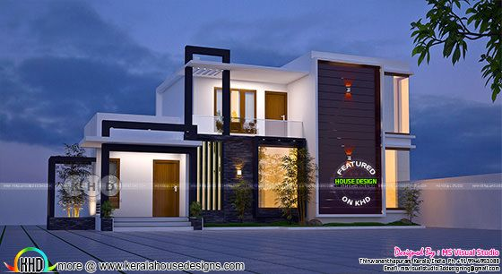 3 bedroom superb looking contemporary house plan