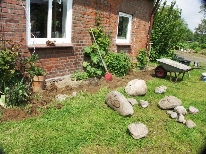 pflaster mit verschiedenen steinen