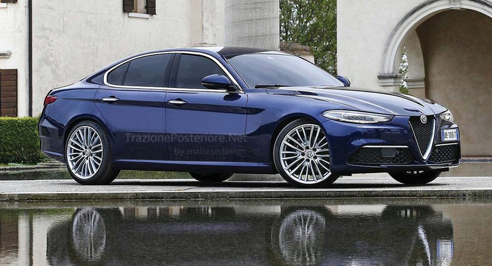 Alfa Romeo's Future BMW 5-Series Rival Imagined, Could Revive Alfetta Name