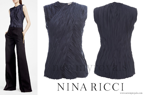 Queen Letizia wore NINA RICCI Sleeveless Top