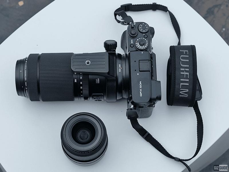 Fujifilm GF50R with the GF 100-200 f/5.6 and the GF 45 f/2.8