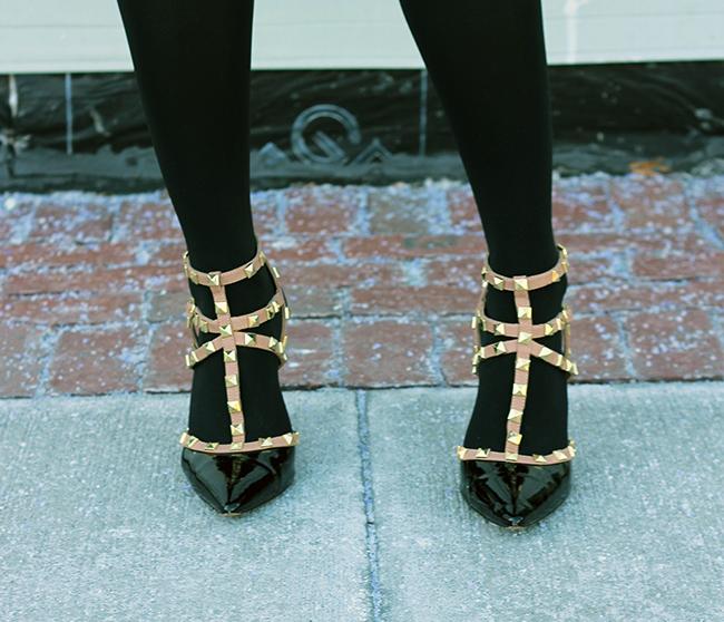 Studded heels #studdedheels #heels