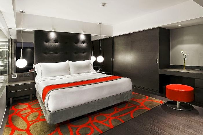 Modern minimalist style bedroom interior design