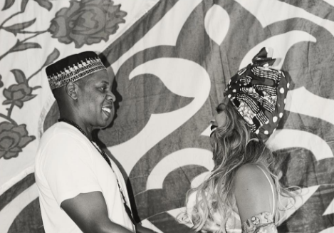 Image of happy couple Beyonce and Jay-Z