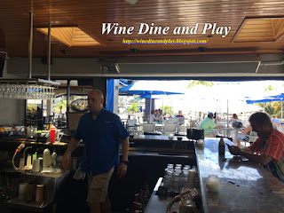 The terrace bar at Ozona Blue grill in Palm Harbor, Florida