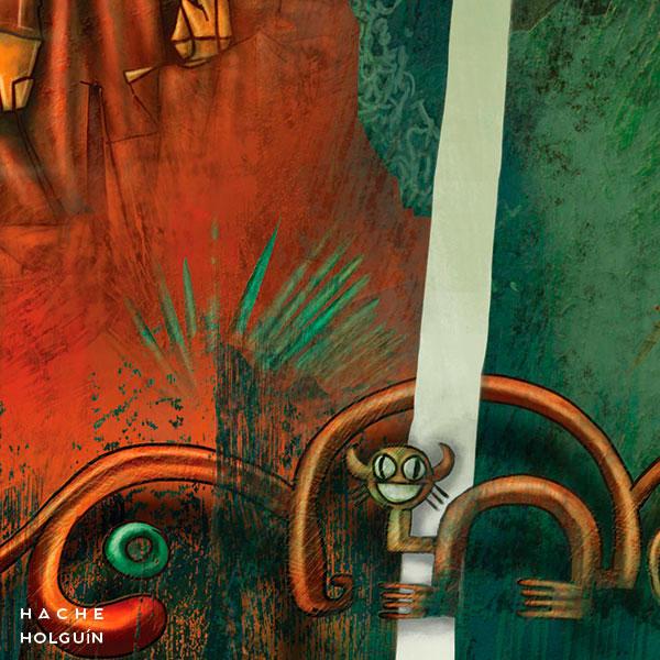 """Ilustración. Mito """"La leyenda de los frailones"""""""