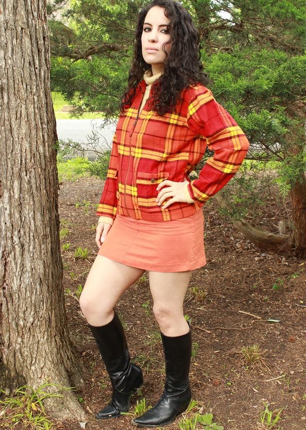 Orange Plaid Jacket