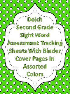 Dolch Second Grade Sight Word Assessment Tracking Binder