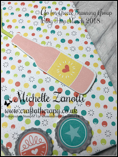 stampin' up! UK,blog hop Greece bubble and fizz mini album waterfall photos scalloped tag topper tag photo-mat bottles  Bubbles Framelits