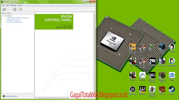 Cara Settings Control Panel Nvidia Geforce VGA Laptop di Windows