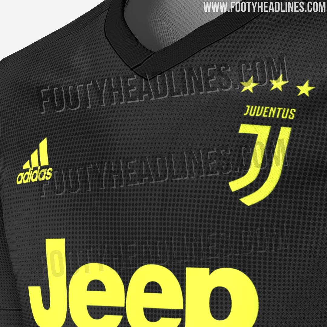 c66357d4a Dark grey   black shorts and socks with bright yellow details will complete  the Juventus 18-19 third kit.