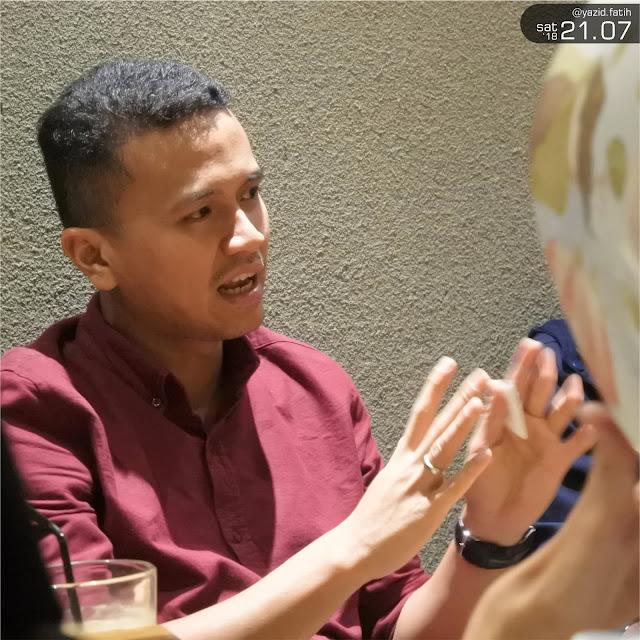 Faldo Maldini dalam Acara Mendadak Meet Up Bandung