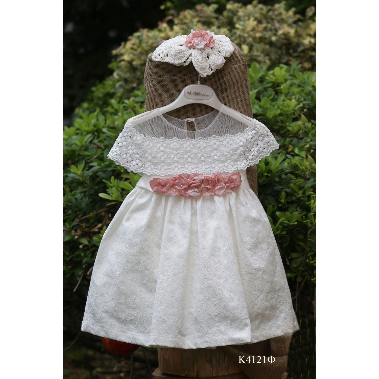 Romantic baptismal dress K4121f