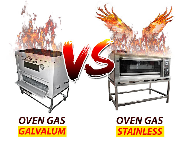 Perbedaan Oven Gas Stainless dan Galvalum