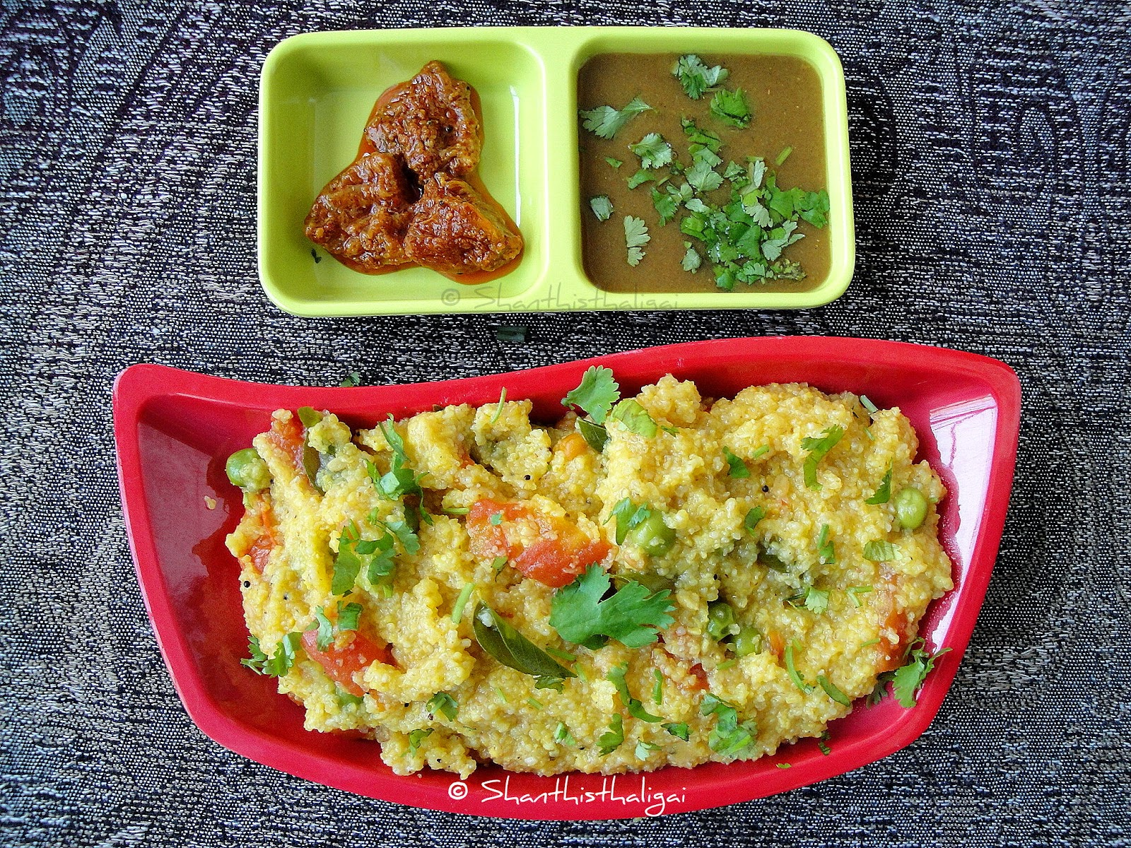 CORNMEAL RAM KHICHRI - NO ONION NO GARLIC (GUJARATI STYLE)