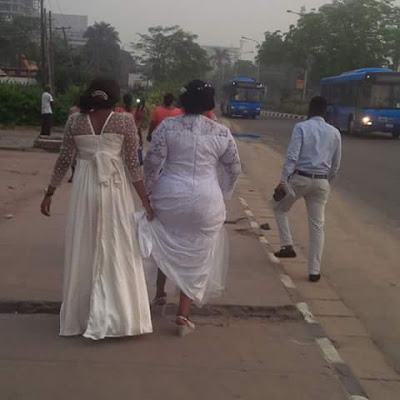 Lagos Marathon: Bride Made To Trek To Wedding Venue