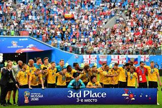 Bélgica 3º Copa do Mundo - 2018