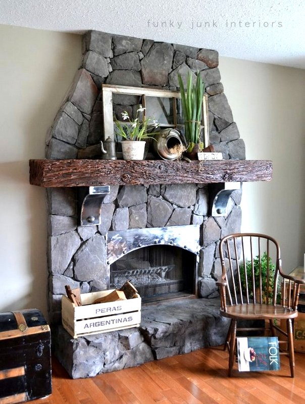 Spring fireplace mantel decorating that never wilts - Decor above fireplace mantel ...