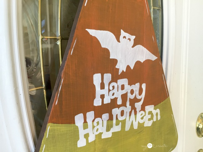 Candy Cane Halloween Door Hanger, MyLove2Create