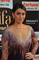 Hansika Motwani in Glittering Deep Neck Transparent Leg Split Purple Gown at IIFA Utsavam Awards 04.JPG